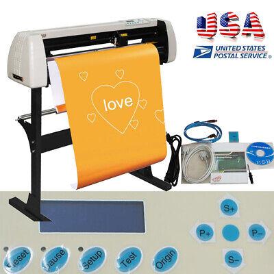 28 720mm Paper Feed Plotter Machine Vinyl Cutter Plotter Sign Cutting W Stand