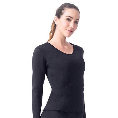 Women Neoprene Sauna Sweat Shirt Long Sleeve Slimming Shaper Top for Weight Loss
