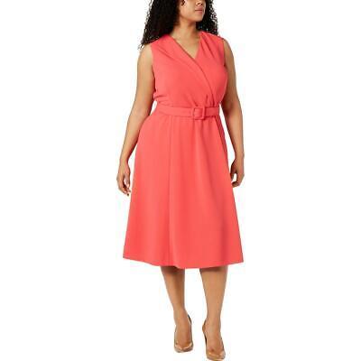 Calvin Klein Womens Pink Sleeveless Crepe Midi Dress Plus 20W BHFO 0267