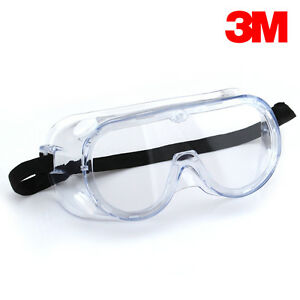 Safety-Splash-Goggles-Clear-Anti-Fog-Lens-3M-Safety-Glass