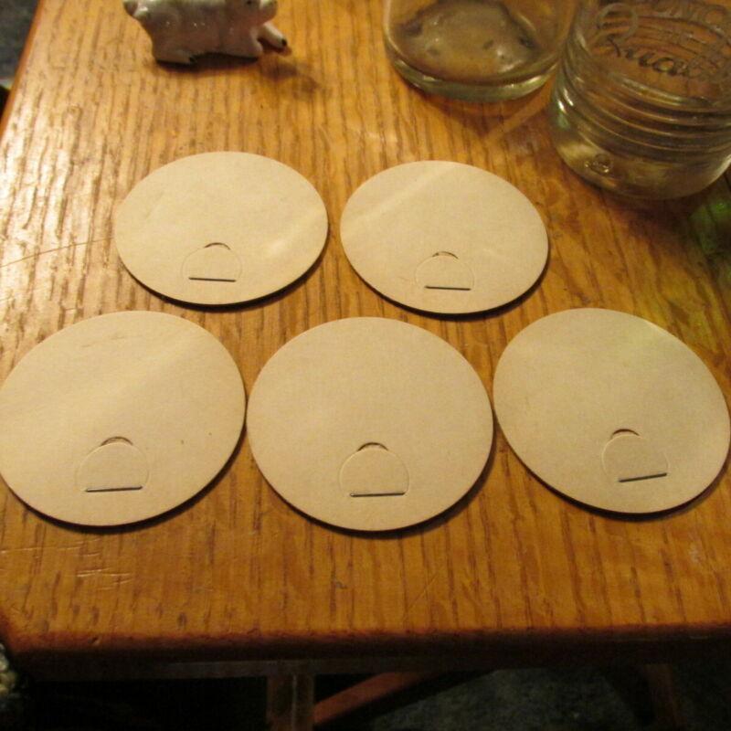 "Cottage Cheese or Sour Cream jar milk bottle caps 5x  Plain  2.375"" cap"
