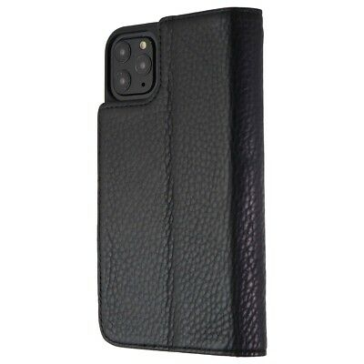 Case-Mate Genuine Leather Wallet Folio Case for Apple iPhone 11 Pro Max - Black