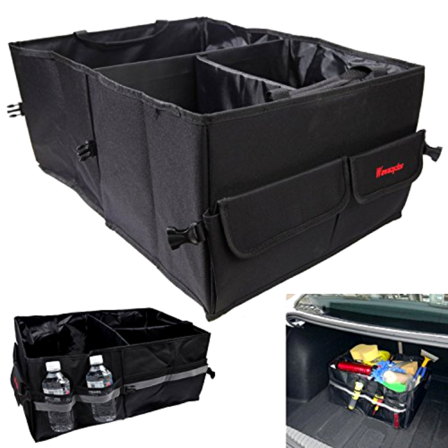 Heavy Duty Trunk Organizer Great Cargo Storage Container For Car