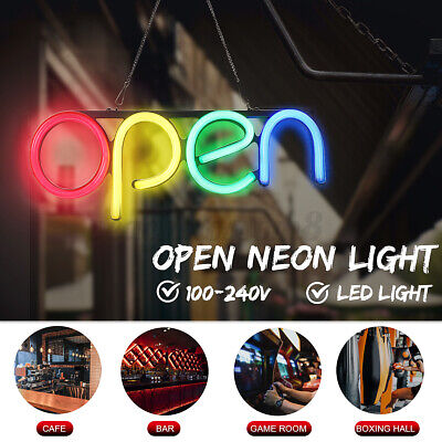 Open Store Sign Lamp Led Neon Outside Wall Decor Business Sign Bar