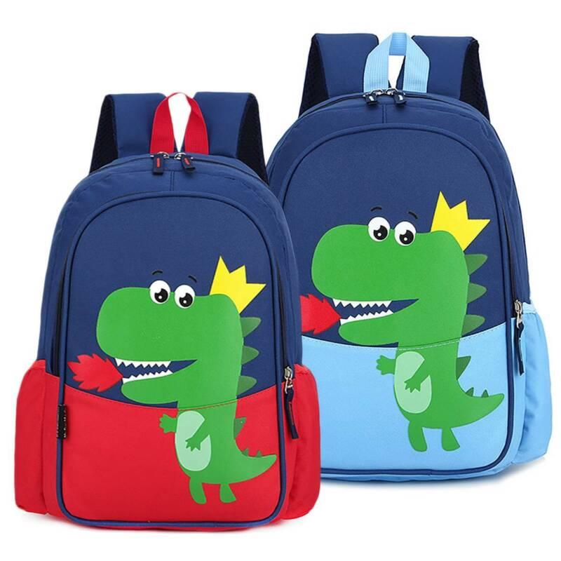 Boys Kids Dinosaur Cartoon Printed Backpack Children School