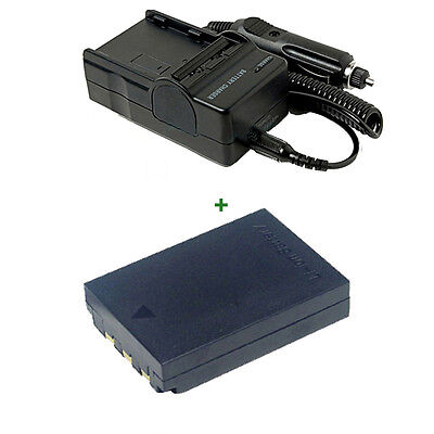 Battery pack + Charger For LI-10B LI-12B OLYMPUS Camedia C-765 Ultra Zoom Li-ion