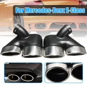 2x Exhaust Muffler Pipe Dual Tips W211 For Mercedes-Benz E320 E350 E55 AMG 02-07