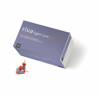 Dental Sdi Riva Light Hv Light Cure Glass Ionomer Capsules - A2 Color