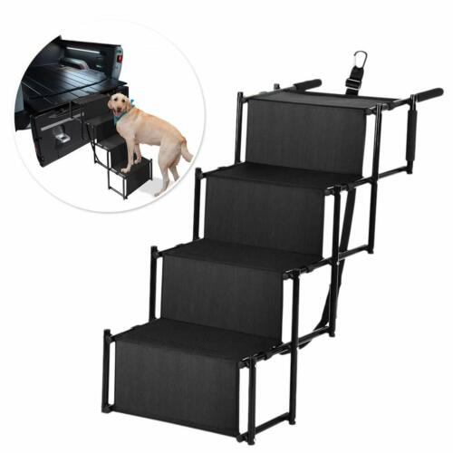 Folding Dog Pet Steps Ramp Stairs Car Boot Portable Ladder Metal Accordion