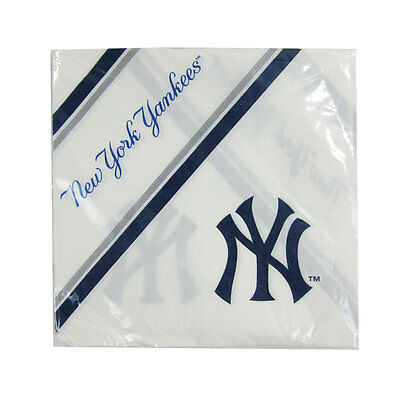 New MLB New York Yankees 20pcs Dinners Napkins Partyware Party - Yankees Party Supplies
