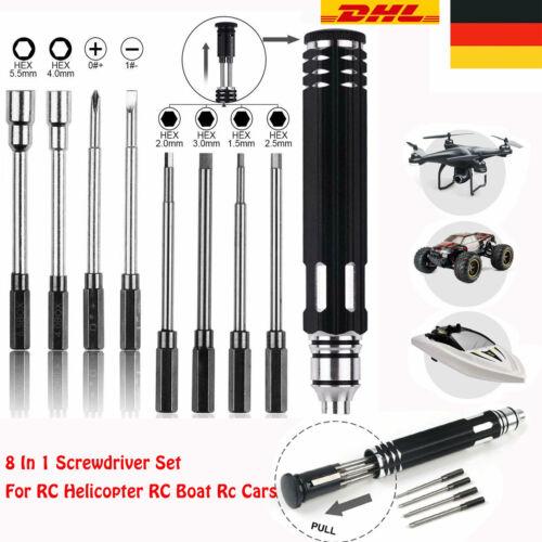 8 in 1 Sechskant Schraubendreher Reparatur Werkzeug Kit für RC Auto Drohne Boot