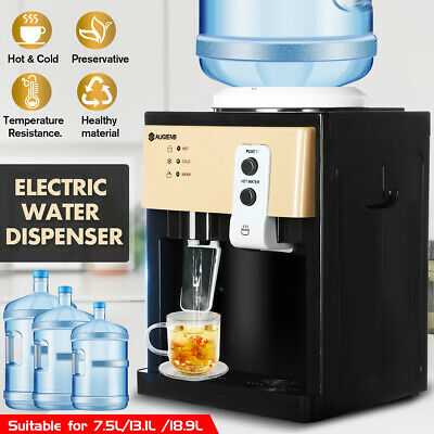 5 Gallon Hot&Cold Water Cooler Dispenser Freestanding Top Loading Home Office-US
