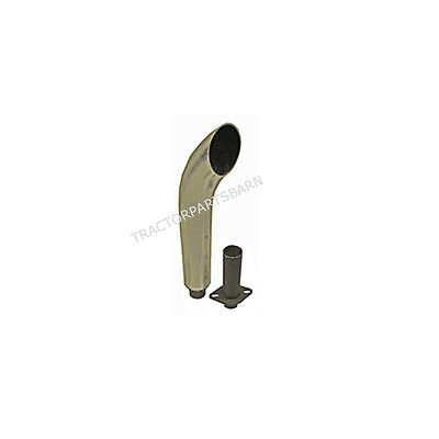 John Deere 330 420 430 435 440 Chrome Curved Exhaust Stack