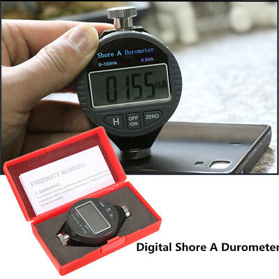 Digital Shore A Hardness Durometer Tester 0100ha Tire Rubber Lcd Display Meter