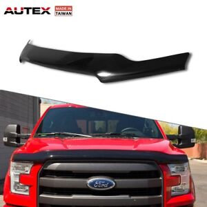For 2015-2018  Ford F-150 AUTEX Smoke Bug Shield Hood Protector Stone Deflector