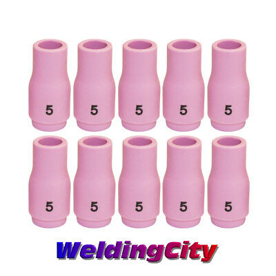 WeldingCity 10-pk Gas Lens Ceramic Cup 54N17 for TIG Welding Torch 17 #5, 5//16 18 and 26 Series in Lincoln Miller ESAB Weldcraft CK Everlast