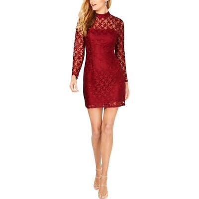 Betsey Johnson Womens Lace Deep Star Printed Cocktail Party Dress BHFO 1493 Long Sleeve Lace Dress