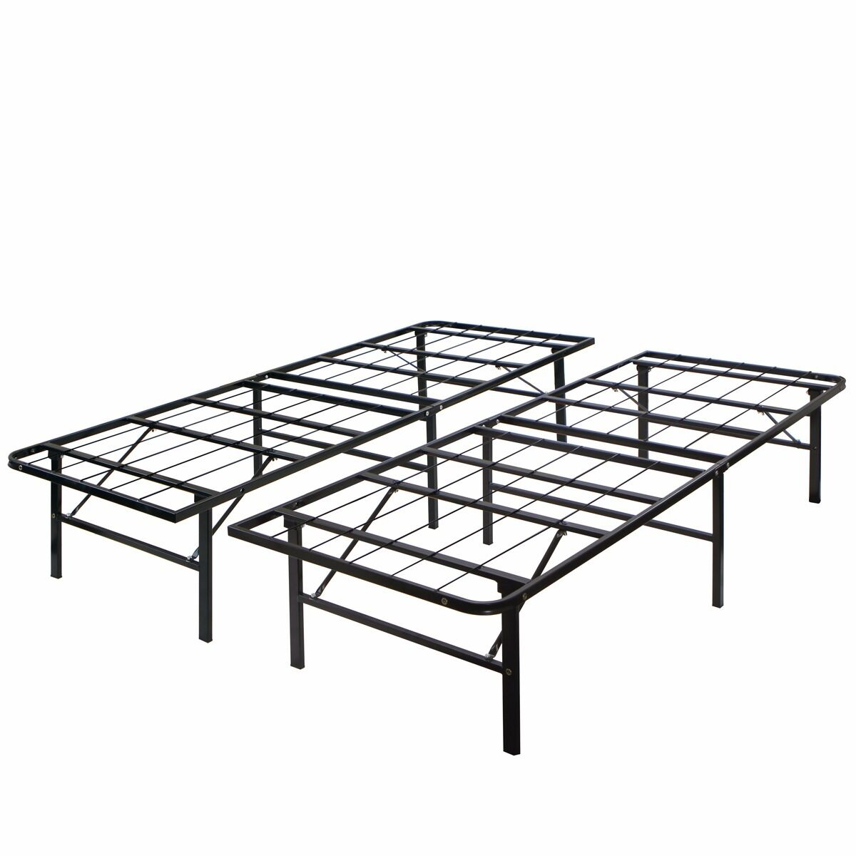 Modern king size bi fold folding platform metal bed frame for King size bed frame and mattress
