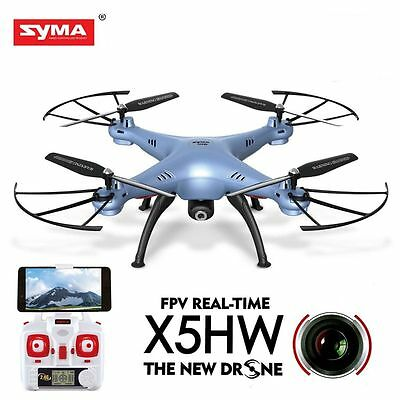 Syma X5HW FPV 4CH RC Quadcopter Drone with HD Wifi Camera Drift Function Blue