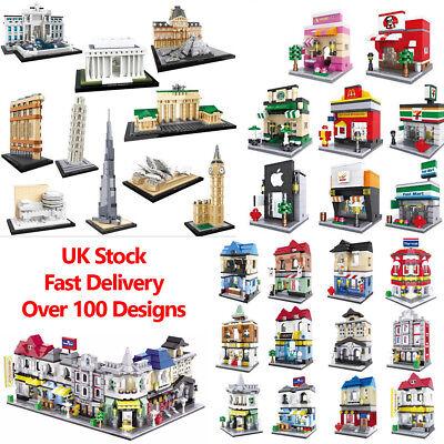 World Famous Landmarks Mini Street View Building Bricks Toys Construction Blocks