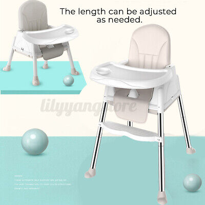 3 in 1 Baby High Chair Convertible Table Seat Booster Toddler Feeding
