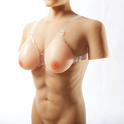 Silicone Breast Forms With Bra Straps Crossdresser C To E Cup Realistic Boobs