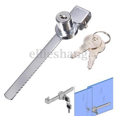 Display Case Showcase Sliding Glass Cabinet Door Cam Lock 2 Security Keys