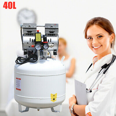 Portable Dental Medical Air Compressor Silent Noiseless Oil Free Oilless 8psi Us