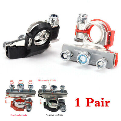 1 Pair Quick Release Battery Terminals Clamps Car Auto Connectors Cable Clips