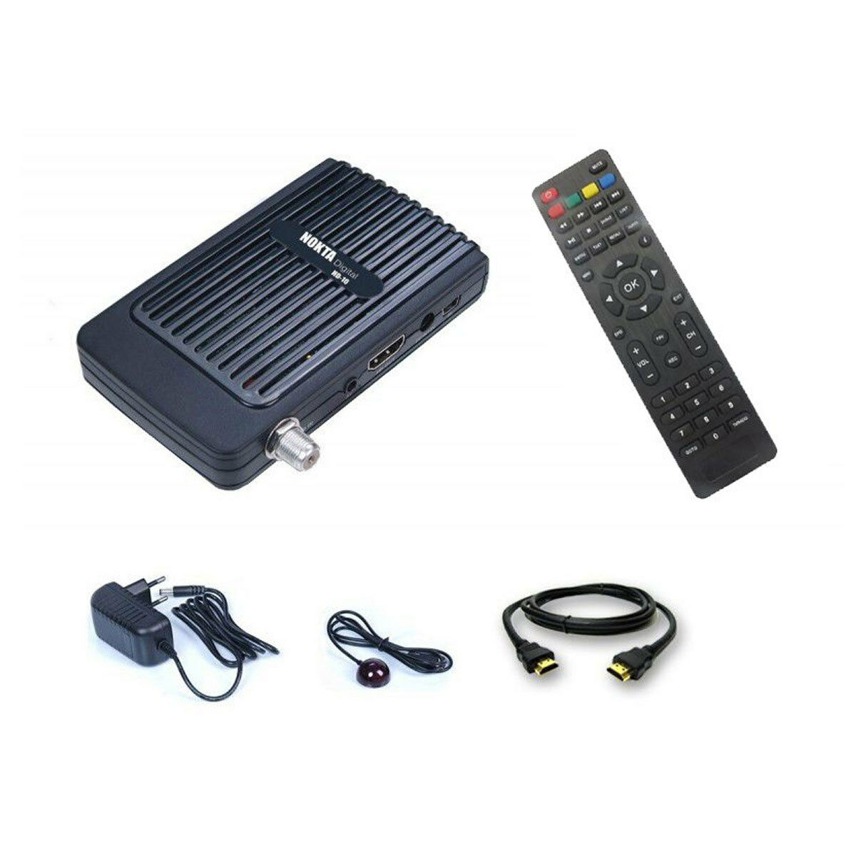 Mini HDTV Camping Satelliten Receiver HD 12 V SAT DVB-S2 mit 2x USB + IR Sensor