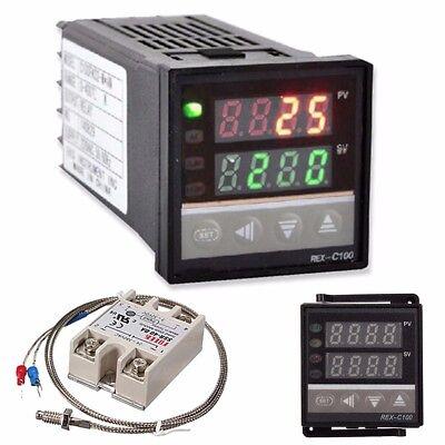 Digital Led Pid Temperature Controller Kits Thermocouple Ac 110v-240v 0-999c