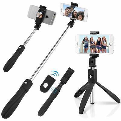 Bluetooth Selfie Stick Spiegel Monopod Standfußhalterung für Android iPhone
