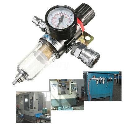 14 Air Compressor Filter Water Separator Trap Tools Kit With Regulator Afr-2000