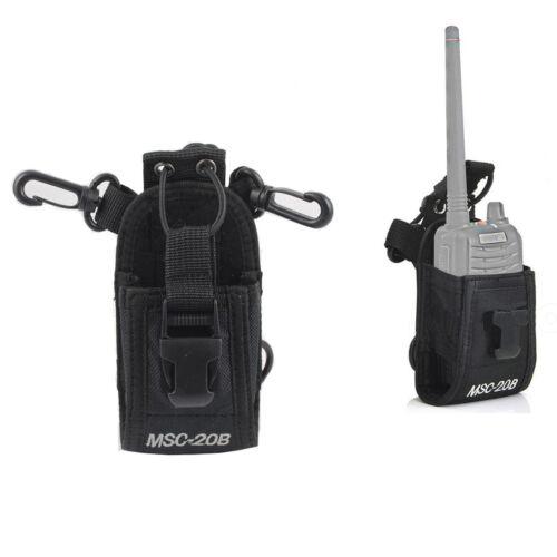 Radio Holder Pouch Case For Motorola Kenwood Walkie Talkie 2 Way Radio USA STOCK