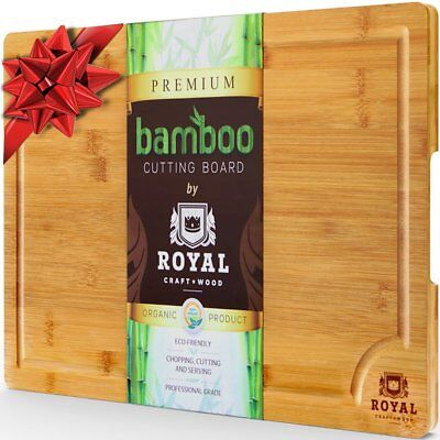Bamboo Cutting Board Eco Friendly Wooden Chopping Block Kitchen Extra Large USA ()