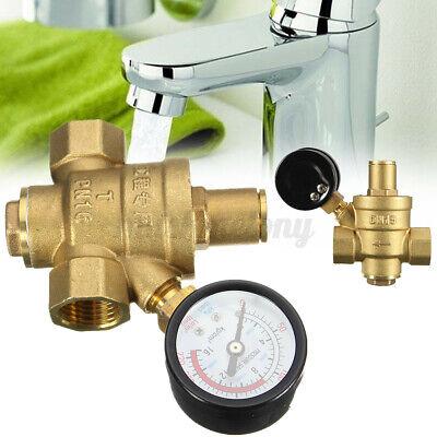 Dn15 Npt 12 Adjustable Brass Water Pressure Regulator Reducer W Gaug Us