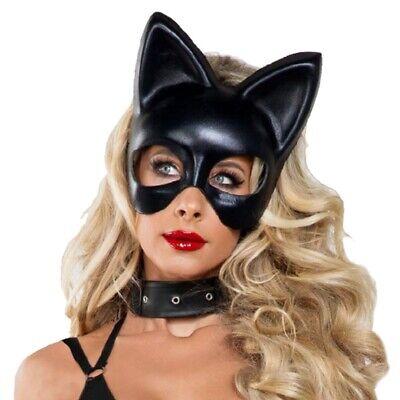 Black Cat Women's Halloween Costume (Cat Mask Adult Black Cat Woman Halloween Costume Fancy)