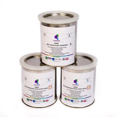 Light Beige Epoxy Resin 100 Solids For Garage Floorplywood Concrete. 3qt Kit