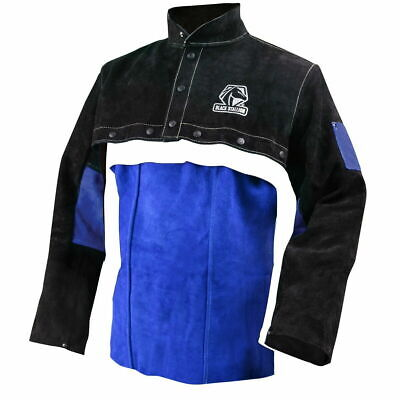 Revco Color Block Leather Welding Cape Sleeves And 20 Bib Combo Size Xl