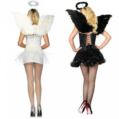 Angel Wings and Halo Adult Teen Halloween Costume Fancy Dress - Angel Costume Teen