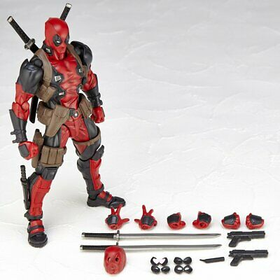 Amazing Yamaguchi Revoltech No.001 Marvel Deadpool PVC Action Figure New In Box