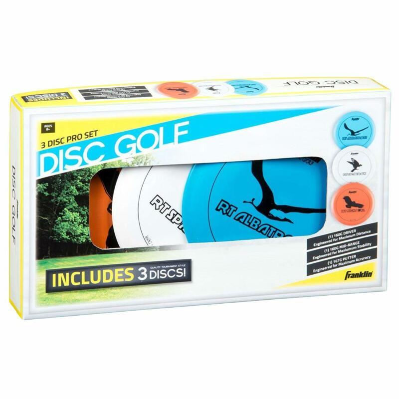 Franklin Disc Golf 3-Disc Pro Set - 160G Driver, 160G Mid-Range & 167G Putter