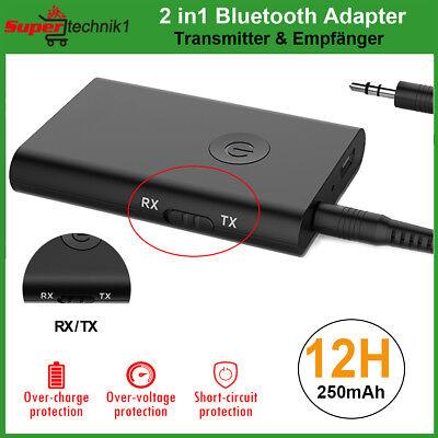 2in1 Wireless Bluetooth Transmitter Stereo Audio Empfänger Sender Adapter 3.5mm