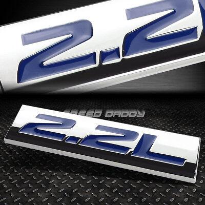 METAL GRILL TRUNK EMBLEM DECAL LOGO TRIM BADGE POLISHED CHROME BLUE 2.2L 2.2 L