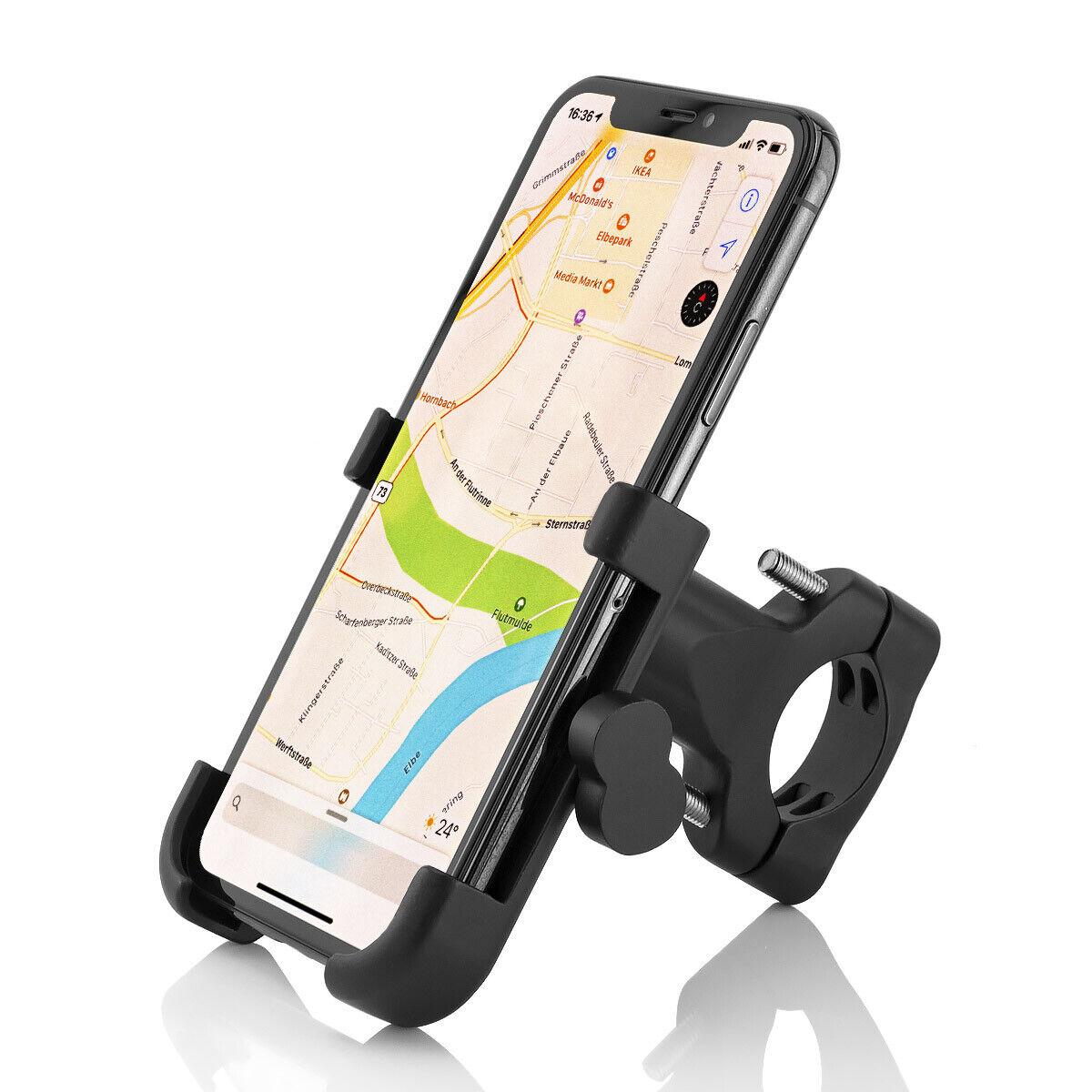 Universal Alu Fahrrad Halterung Handy Halter Motorrad Bike Smartphone Roller GUB