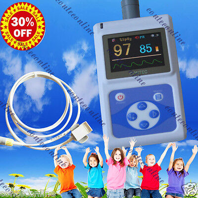 24hrs Handheld Kids Child Pulse Oximeter Spo2 Daily And Overnight Sleep Study