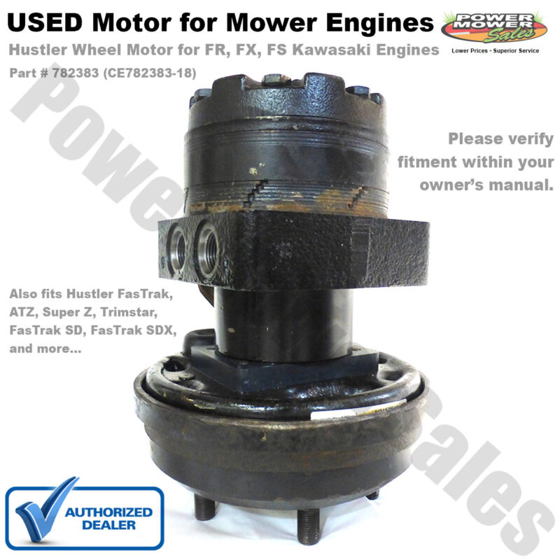 (USED) Replacement Hydraulic Wheel Motor for Hustler Lawn Mowers & Others 782383