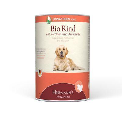 Herrmanns Erwachsen Bio-Rind | 12x 400g Hundefutter nass