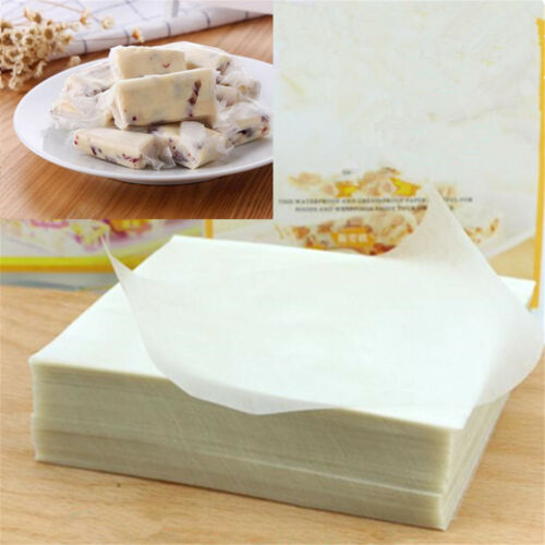 Wafer Paper-500Pcs Nougat Paper Edible Rice Wafer Paper Handmade Candy Wrapping Sheets