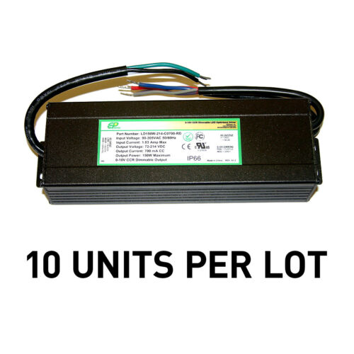 [LOT OF 10] NEW EPtronics 150W LED Drivers, Constant Current 700mA 0-10V Dimming